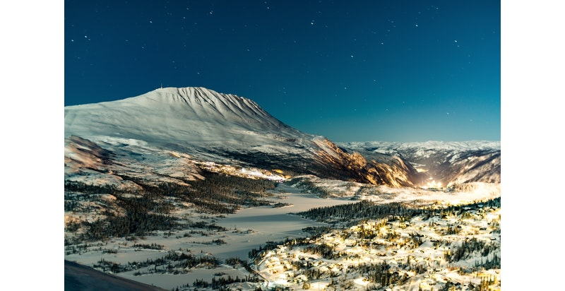 Gaustaområdet med Kvitåvatn, Gaustatoppen, Hardangervidda og Rjukan. Foto Øyvind Stensrud