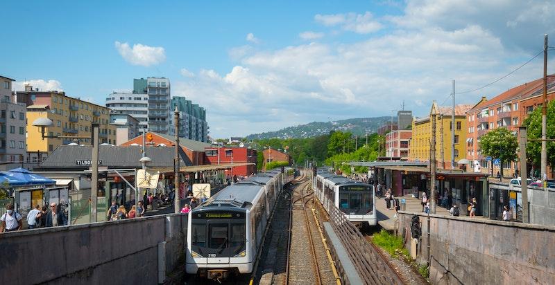 Kort avstand til både T-bane og buss