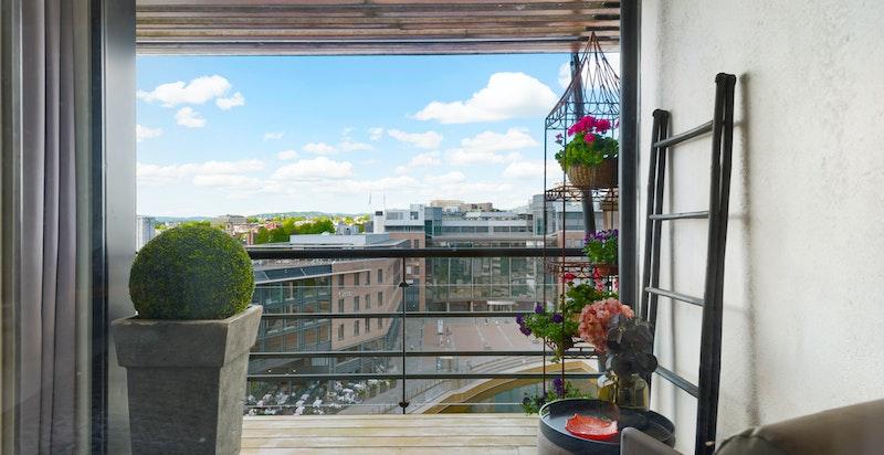 Balkong/terrassen fra hovedsoverommet