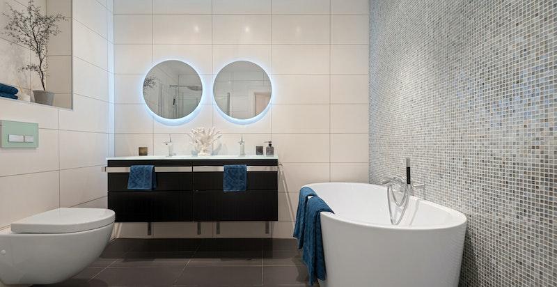 Moderne og fresht bad oppusset 2013