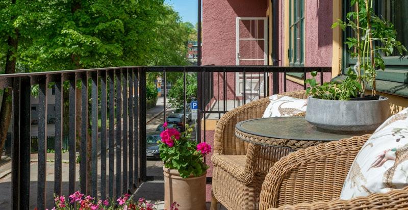Detalj balkongen ca 4.5 kvm