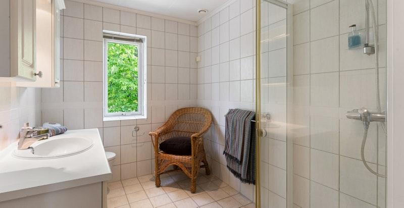 Gjestebadet har dusj