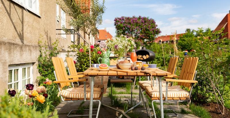 Her kan man nyte sommerdager i godt selskap med solen fra morgen til kveld.