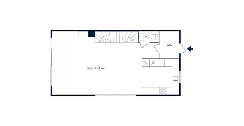 Heggelibakken 23D - Plantegning 1. etasje