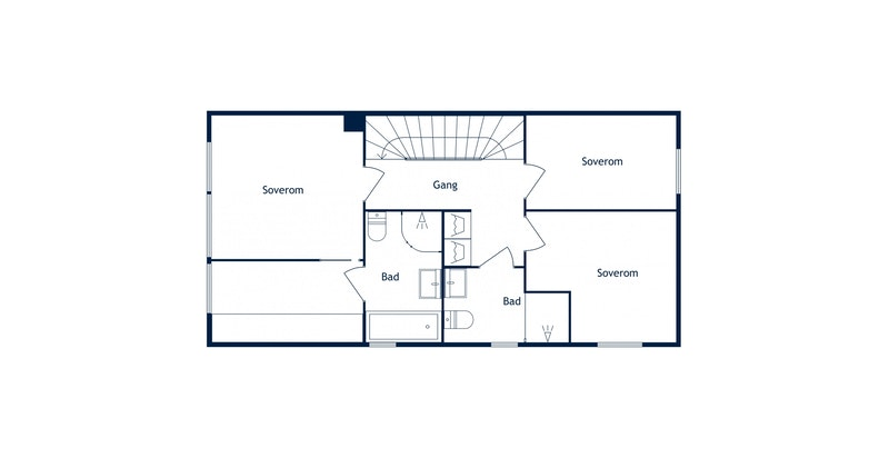 Heggelibakken 23D - Plantegning 2. etasje