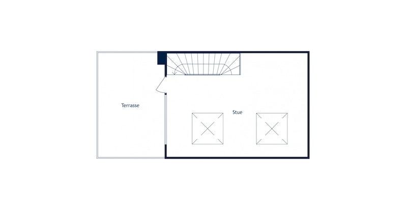 Heggelibakken 23D - Plantegning loftsetasje