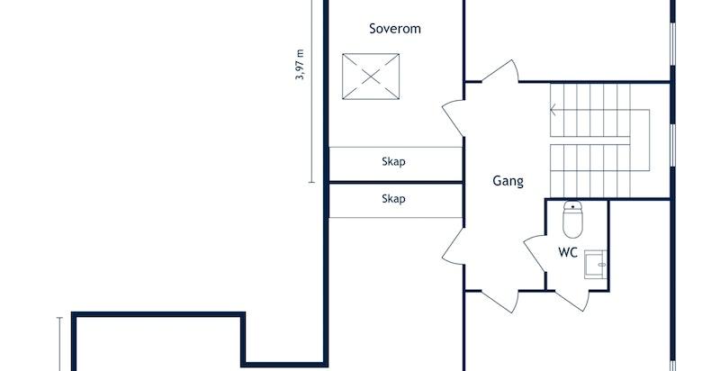 Munkengveien 11 B - 2. etasje - 2D Floor Plan