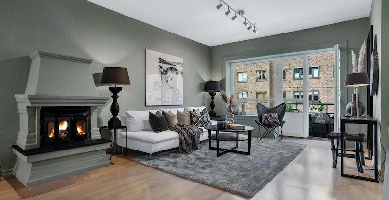 Moderne 4 roms leilighet med store vindusflater og mye naturlig lys
