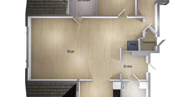 Planskisse av leiligheten
