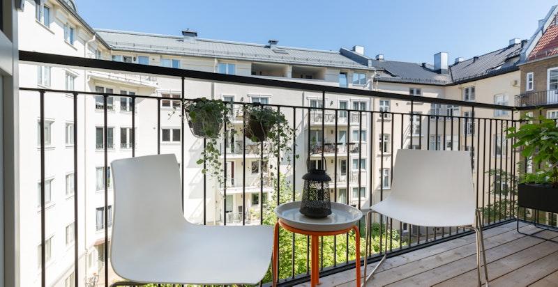 Balkong mot bakgård