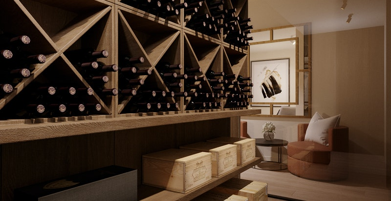 Vinrom leveres med temperaturstyrt kjøling og veggkonstruksjoner tilpasset formålet.