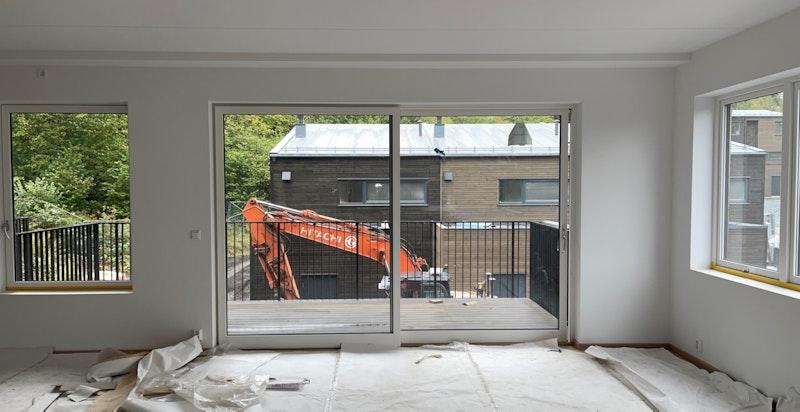 Stue - bilde tatt på byggeplassbefaring