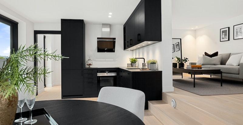 Spiseplass mot kjøkken