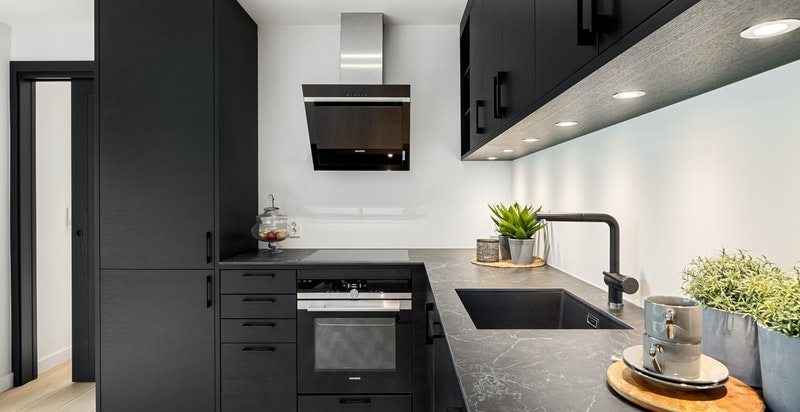 Kjøkken med fin innredning fra Drømmekjøkkenet