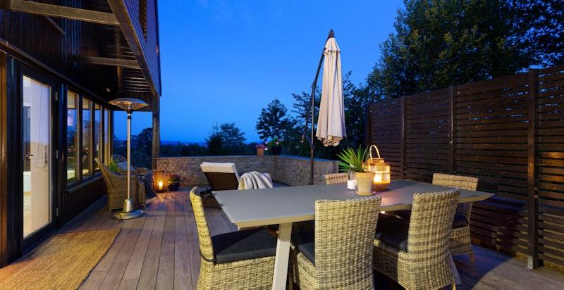 Kveldsstemning på terrassen