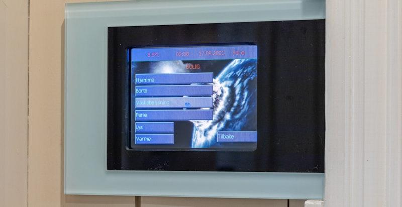 Det er installert smarthus løsning på EL ( KNX).