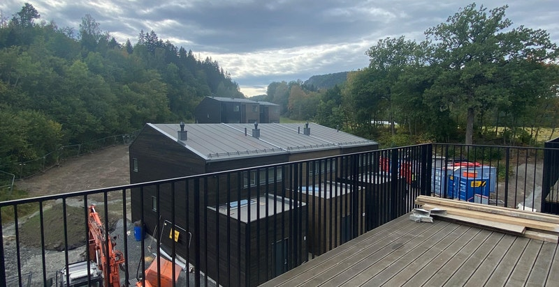 Bilde av balkongen tatt på byggeplass