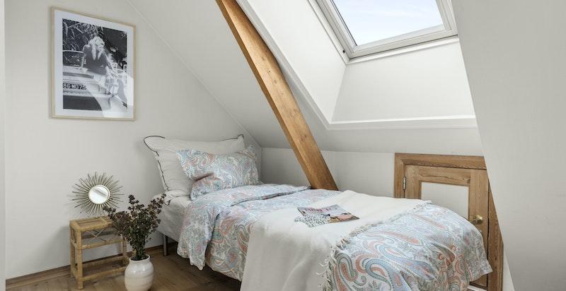 Soverommet fungerer ypperlig som barnerom, gjesterom, kontor eller det man måtte ha behov for.