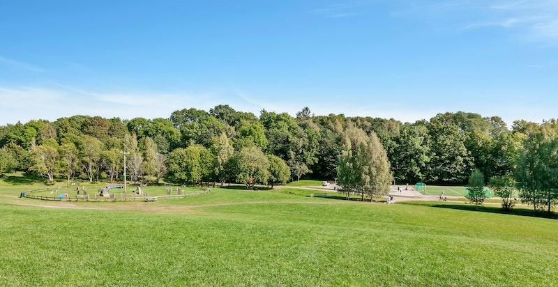 Det er flere nærliggende parker i området, bl.a. Skøyenparken.