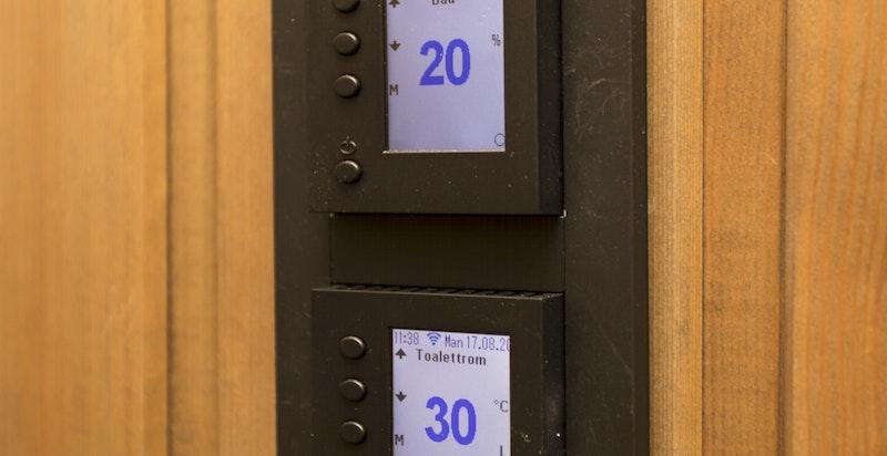 Det er montert elektrisk matriell fra Elko plus i alle rom
