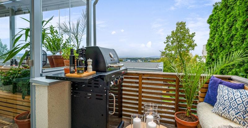 Begge verandaene har den samme flotte utsikten