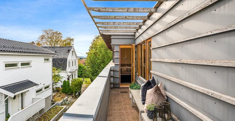 Østvendt terrasse ca. 7 kvm