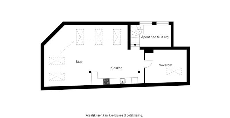 Planskisse - 4.etg./loft