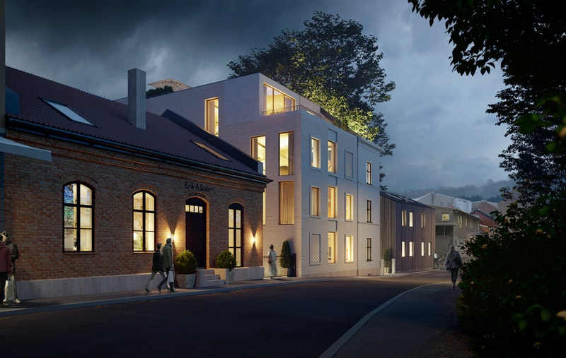 Leilighten blir liggende i 2.etasje i sin helhet beliggende inn i bakgården.