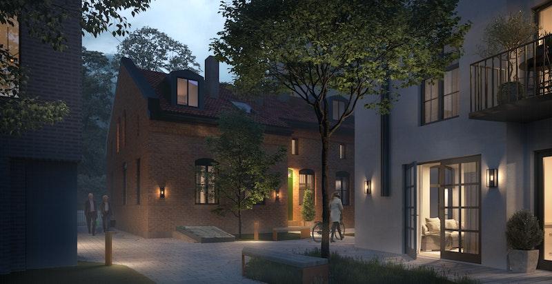 Sameiet får to hyggelige bakgårder og den aktuelle leiligheten som nå selges er gjennomgående og har utsyn begge veier.