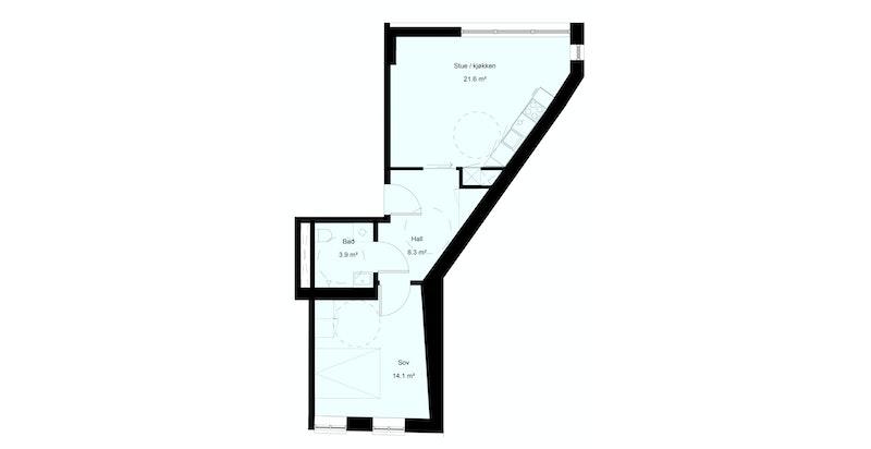 Plantegning leilighet C2