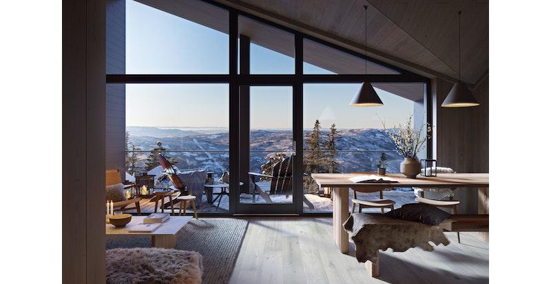 Velkommen til Fjellhvil Trinn III - Alle leilighetene i prosjektet har ski in / out -  OBS bygget er tegnet om med utenpåliggende balkonger og stue helt ut