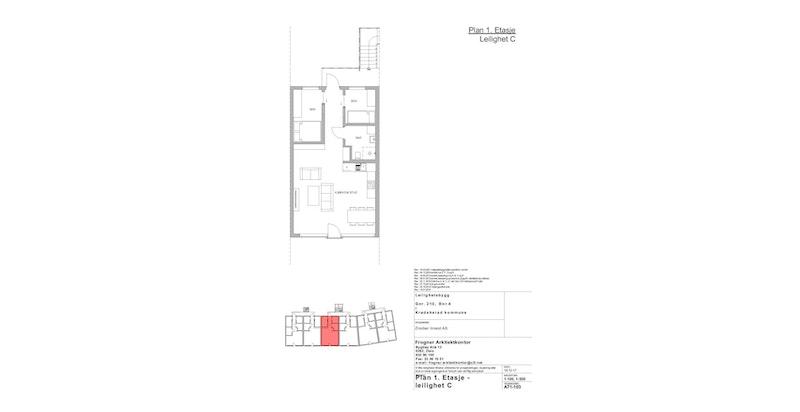 Leilighet C | 1 ETG | 63 KVM | PRIS 3 100 000