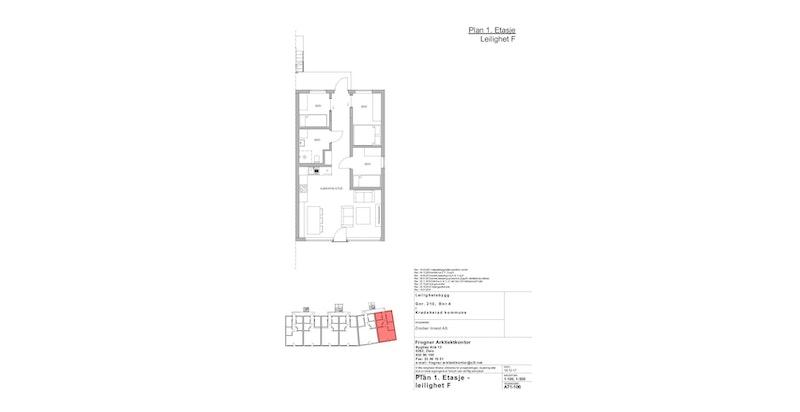 Leilighet F | 1 ETG | 62 KVM | PRIS 3 400 000