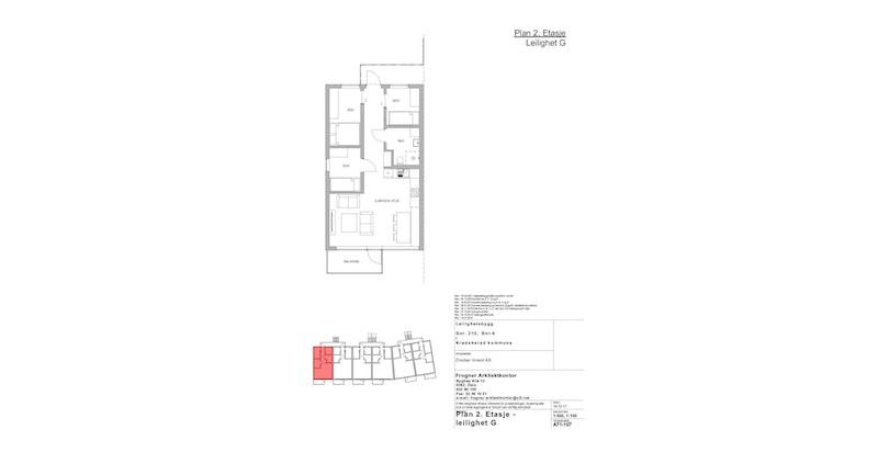 Leilighet G | 2 ETG | 61 KVM | PRIS 3 600 000