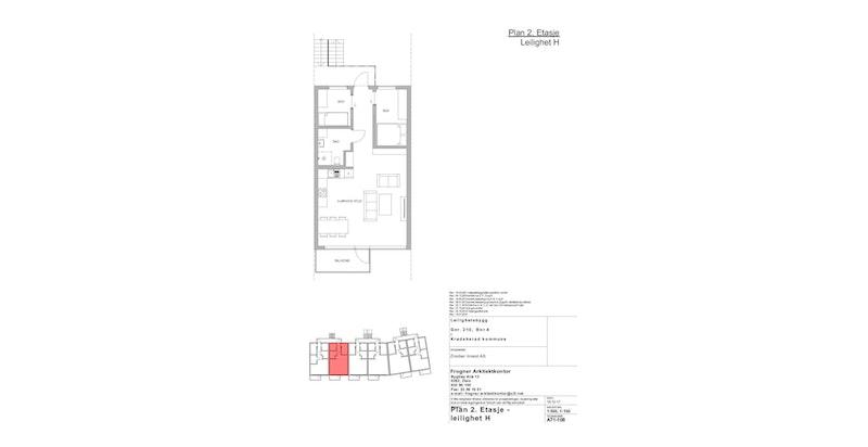 Leilighet H | 2 ETG | 61 KVM | PRIS 3 300 000