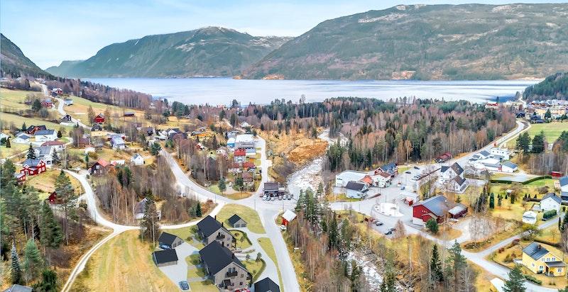 Ådalen 4, 8 nye selveierleiligheter sentralt i Tinn Austbygde. Kun ment som illustrasjon.