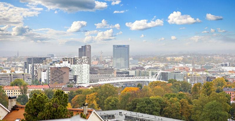 Flott utsikt over Oslo by.